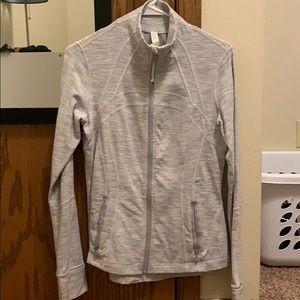 cute light gray zip up